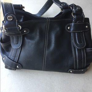 Tignanello perfect 10 studded Shoulder Handbag Blk